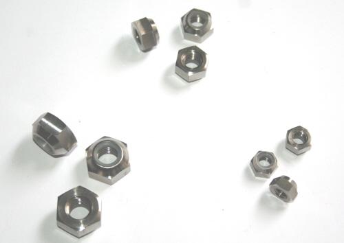 5 x Titan Muttern Titanium Grade 5 nuts  DIN 985  M10x1.25
